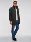 Пальто однобортное с воротником-стойкой oodji #SECTION_NAME# (серый), 1L312002M/48524N/2300N - вид 6