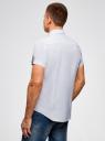 Рубашка льняная с нагрудным карманом oodji для мужчины (белый), 3L420003M/21155N/1000N