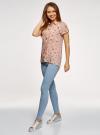 Блузка из вискозы с нагрудными карманами oodji #SECTION_NAME# (розовый), 11400391-5B/48756/4041O - вид 6