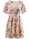Платье шифоновое с рукавами-крыльями oodji для женщины (разноцветный), 11900204M/38375/4019F