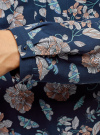 Блузка принтованная из вискозы oodji #SECTION_NAME# (синий), 11411049-1/24681/7912F - вид 5