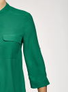 Блузка базовая из шифона oodji #SECTION_NAME# (зеленый), 11403225B/45227/6E00N - вид 5