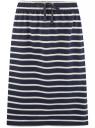 Юбка трикотажная на завязках oodji для женщины (синий), 14101103/47420/7912S