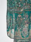 Блузка принтованная с воланами и стразами oodji #SECTION_NAME# (бирюзовый), 11411110/10466/7319F - вид 5
