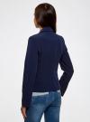 Жакет базовый приталенного силуэта oodji #SECTION_NAME# (синий), 21202077-3B/18600/7900N - вид 3