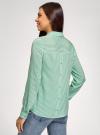 Блузка вискозная с нагрудным карманом oodji #SECTION_NAME# (зеленый), 11401275-1/24681/6C10S - вид 3
