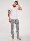 Брюки пижамные принтованные oodji для мужчины (серый), 7L400101I-1/47885N/2010G - вид 6