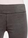 Джинсы-легинсы на эластичном поясе oodji #SECTION_NAME# (серый), 12104068-1/47015/2300W - вид 4