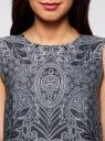 Топ принтованный из струящейся ткани oodji #SECTION_NAME# (синий), 21400351M/35542/7912E - вид 4