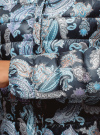 Куртка стеганая с круглым вырезом oodji для женщины (синий), 10204040-1B/42257/7973E - вид 5