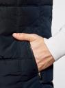 Жилет с воротником-стойкой и капюшоном oodji #SECTION_NAME# (синий), 1B812000M/44330N/7900N - вид 5