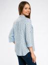 Блузка вискозная с регулировкой длины рукава oodji #SECTION_NAME# (синий), 11403225-3B/26346/7029G - вид 3