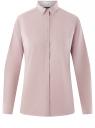 Рубашка хлопковая с нагрудным карманом oodji для женщины (розовый), 13K03014/18193/4010B