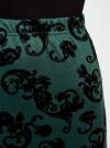Юбка-карандаш с принтом из флока oodji #SECTION_NAME# (зеленый), 14101083/42376/6929E - вид 5