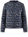 Куртка стеганая с круглым вырезом oodji #SECTION_NAME# (синий), 10204040-1B/42257/7919A