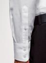 Рубашка приталенная из фактурной ткани oodji #SECTION_NAME# (белый), 3B110015M/46246N/1070B - вид 5