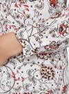 Блузка из струящейся ткани с контрастной отделкой oodji #SECTION_NAME# (белый), 11411059/43414/1245E - вид 5