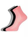 Комплект из трех пар хлопковых носков oodji для женщины (разноцветный), 57102809T3/48022/9