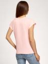Футболка хлопковая с принтом oodji для женщины (розовый), 14707001-93B/46154/4012P