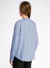 Блузка вискозная А-образного силуэта oodji #SECTION_NAME# (синий), 21411113B/26346/7000N - вид 3