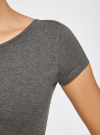 Платье миди с вырезом на спине oodji для женщины (серый), 24001104-5B/47420/2500M - вид 5