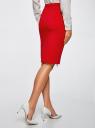 Юбка трикотажная на молнии спереди oodji для женщины (красный), 24100033-2/43302/4500N