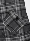 Платье клетчатое с карманами и воротником-хомутом oodji для женщины (серый), 11910058-2/37812/2520C - вид 5