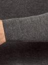 Джемпер базовый с круглым воротом oodji #SECTION_NAME# (серый), 4B112011M/49683N/2500M - вид 5
