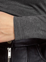 Водолазка базовая из хлопка oodji для женщины (серый), 15E17001/46147/2502M