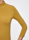 Водолазка хлопковая с рукавом 3/4 oodji #SECTION_NAME# (желтый), 15E11007B/46147/5700N - вид 5