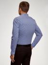 Рубашка extra slim в мелкую клетку oodji #SECTION_NAME# (синий), 3B140003M/39767N/7910C - вид 3