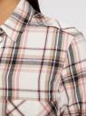 Рубашка в клетку с нагрудными карманами oodji для женщины (белый), 11411052-2/45624/7912C