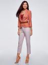 Жакет льняной с широким ремнем oodji #SECTION_NAME# (розовый), 21202076-2/45503/3300N - вид 6