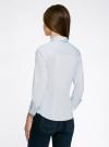 Рубашка базовая с одним карманом oodji #SECTION_NAME# (синий), 11406013/18693/7000N - вид 3
