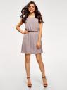 Платье вискозное без рукавов oodji #SECTION_NAME# (серый), 11910073B/26346/2300N - вид 2