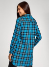 Платье-рубашка с карманами oodji #SECTION_NAME# (бирюзовый), 11911004-2/45252/7329C - вид 3