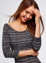 Платье облегающее с вырезом-лодочкой oodji #SECTION_NAME# (черный), 14017001-5B/46944/2912N - вид 4