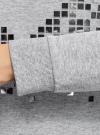 Свитшот хлопковый с металлическим декором oodji для женщины (серый), 14808015-65/46151/2091Z - вид 5