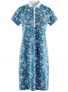 Платье-поло из ткани пике oodji #SECTION_NAME# (синий), 24001118-2/47005/7010E