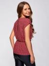 Блузка принтованная из вискозы oodji для женщины (красный), 11400345-2/24681/4912G - вид 3
