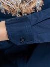Блузка хлопковая с этническим принтом oodji #SECTION_NAME# (синий), 21402212-2/45966/7533E - вид 5