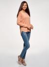 Джемпер свободного силуэта с вырезом-лодочкой oodji #SECTION_NAME# (розовый), 63812580B/45494/4300N - вид 6