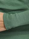 Водолазка базовая из хлопка oodji для женщины (зеленый), 15E11009B/48002/6200N