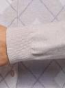 Кардиган вязаный на пуговицах oodji для женщины (бежевый), 63210148/50083/3380R