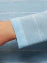 Футболка с длинным рукавом в полоску oodji для женщины (синий), 14208004/43222/7010S