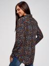 Блузка с нагрудными карманами и регулировкой длины рукава oodji #SECTION_NAME# (черный), 11400355-8B/48458/2919F - вид 3