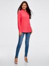Блузка с нагрудными карманами и регулировкой длины рукава oodji #SECTION_NAME# (розовый), 11400355-3B/14897/4D00N - вид 6