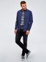 Рубашка хлопковая в клетку oodji #SECTION_NAME# (синий), 3L310168M/48837N/7975C - вид 6