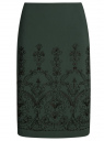 Юбка со шлицей сзади oodji #SECTION_NAME# (зеленый), 21601296-1/43849/6929O