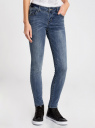 Джинсы slim fit базовые oodji #SECTION_NAME# (синий), 12103124-2/22306/7500W - вид 2